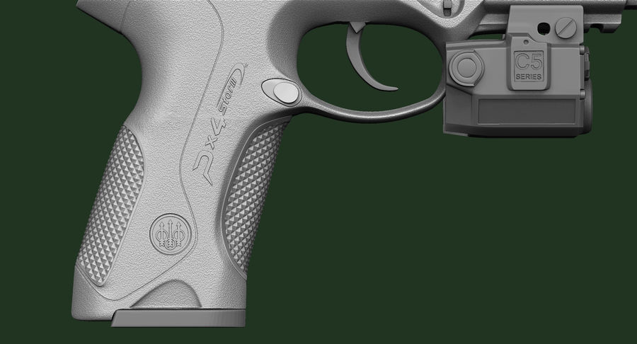 BERETTA PX4 Storm met Holster Zbrush Sculpt royalty-free 3d model - Preview no. 16