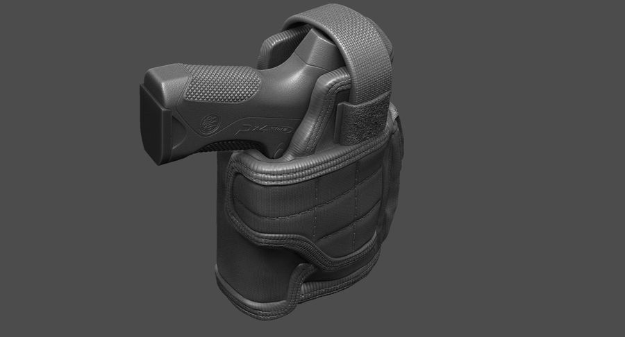 BERETTA PX4 Storm met Holster Zbrush Sculpt royalty-free 3d model - Preview no. 3