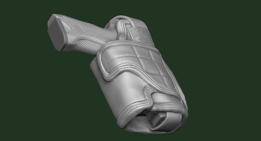 BERETTA PX4 Storm met Holster Zbrush Sculpt royalty-free 3d model - Preview no. 4