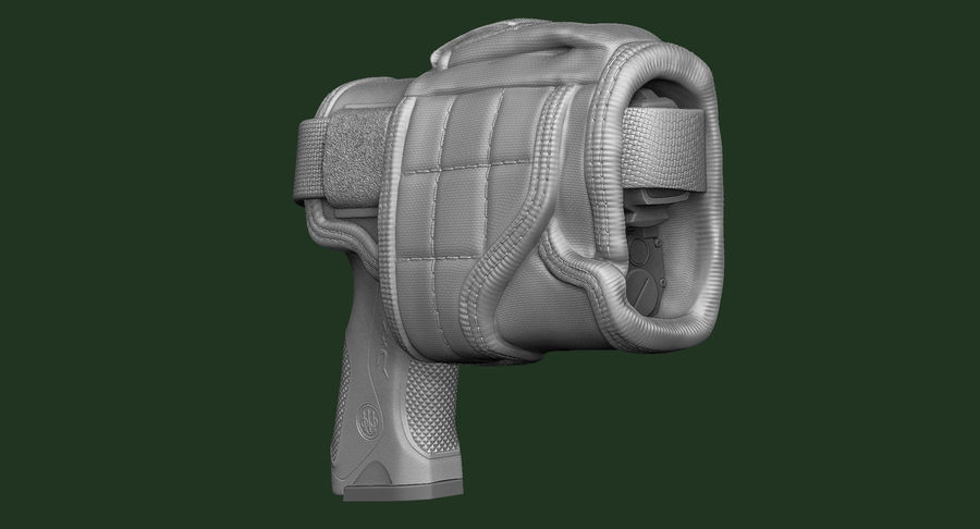 BERETTA PX4 Storm met Holster Zbrush Sculpt royalty-free 3d model - Preview no. 6