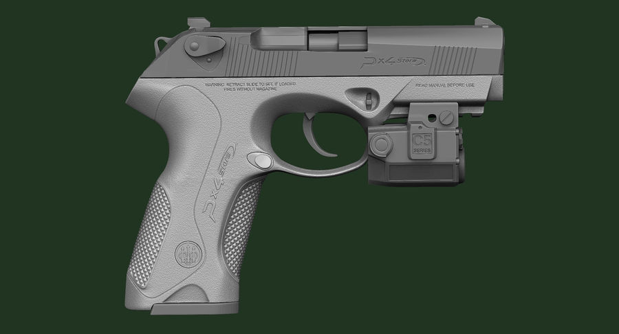 BERETTA PX4 Storm met Holster Zbrush Sculpt royalty-free 3d model - Preview no. 8