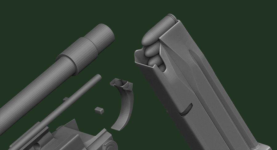 带有皮套Zbrush造型的BERETTA PX4 Storm royalty-free 3d model - Preview no. 18