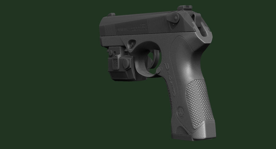 BERETTA PX4 Storm met Holster Zbrush Sculpt royalty-free 3d model - Preview no. 12