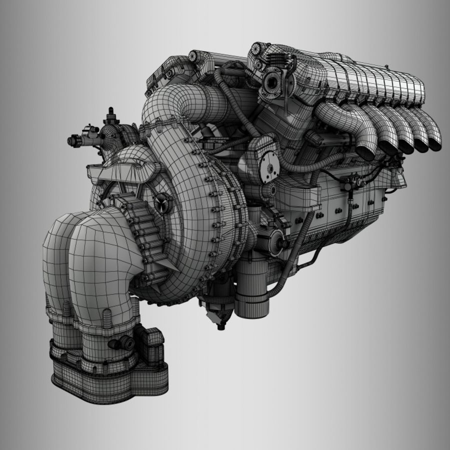 Motor royalty-free 3d model - Preview no. 12