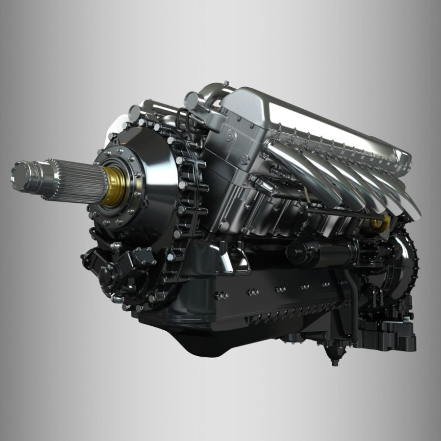 Engine royalty-free 3d model - Preview no. 7
