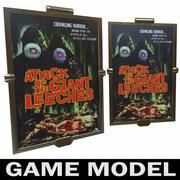 Modèle de jeu de cadre de cinéma-affiche en laiton 3d model