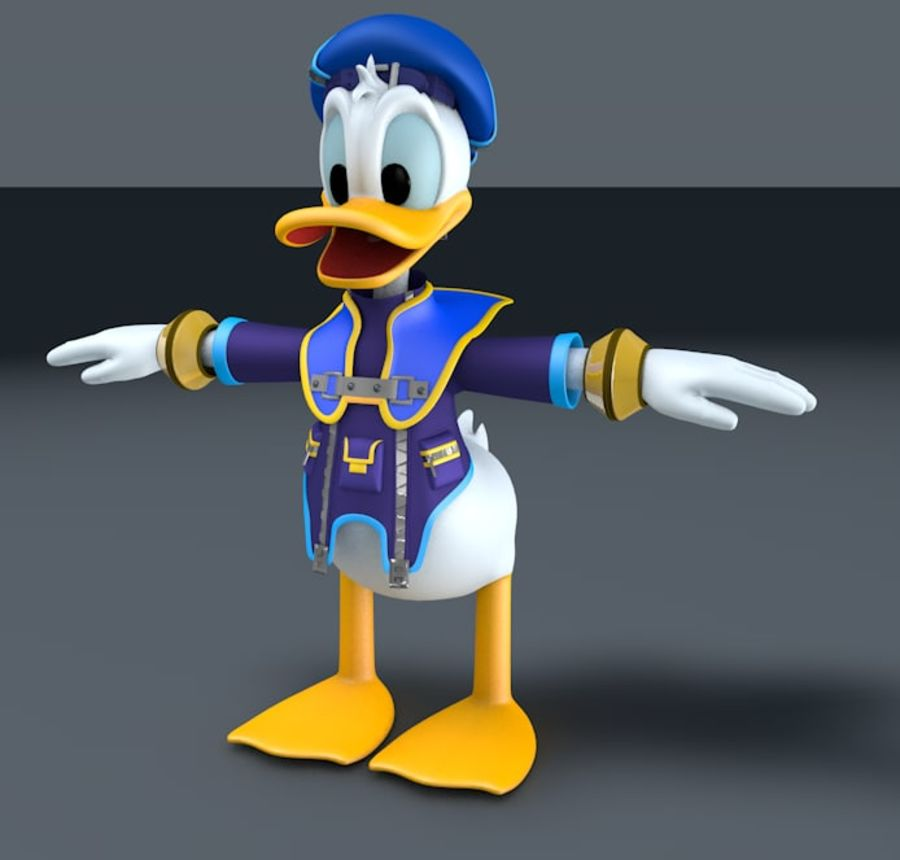 donald duck 3d model free download