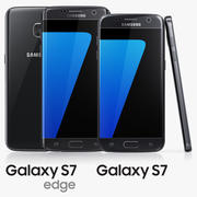 Samsung Galaxy S7 e S7 Edge Preto 3d model