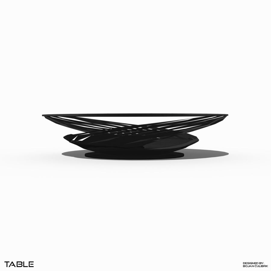 Table à spirale royalty-free 3d model - Preview no. 4