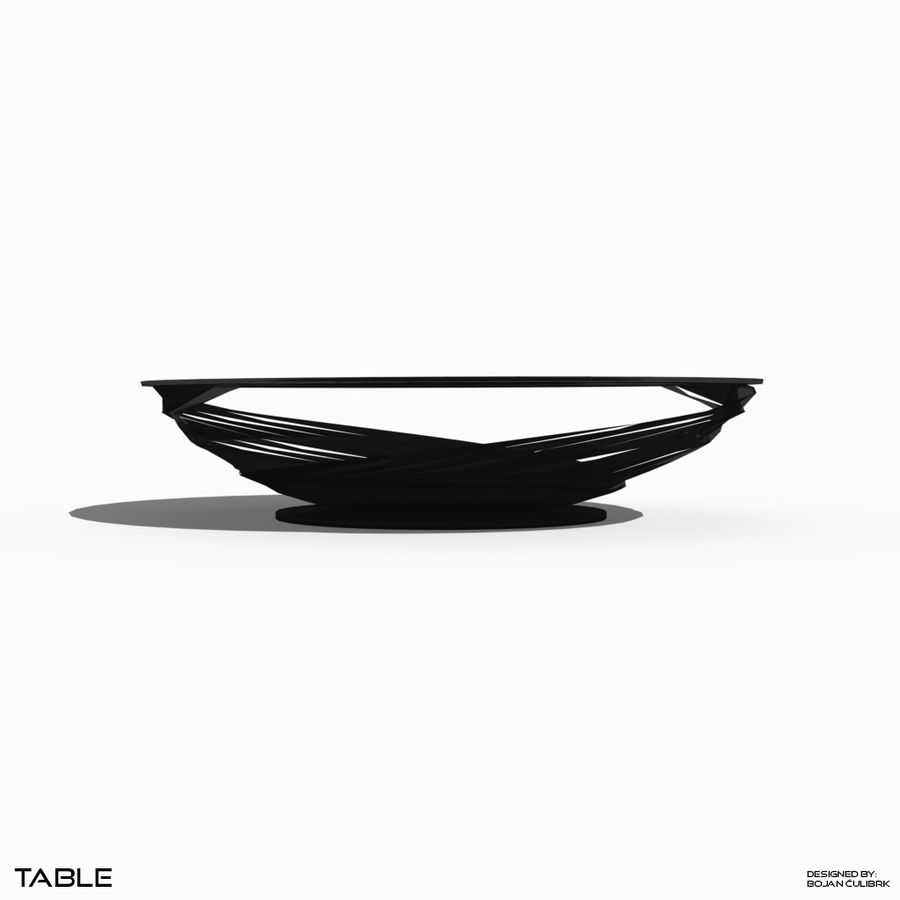 Table à spirale royalty-free 3d model - Preview no. 2
