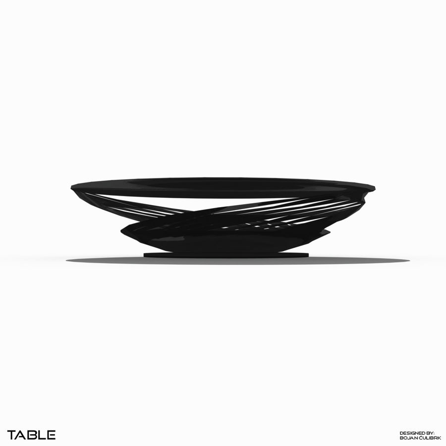 Table à spirale royalty-free 3d model - Preview no. 3