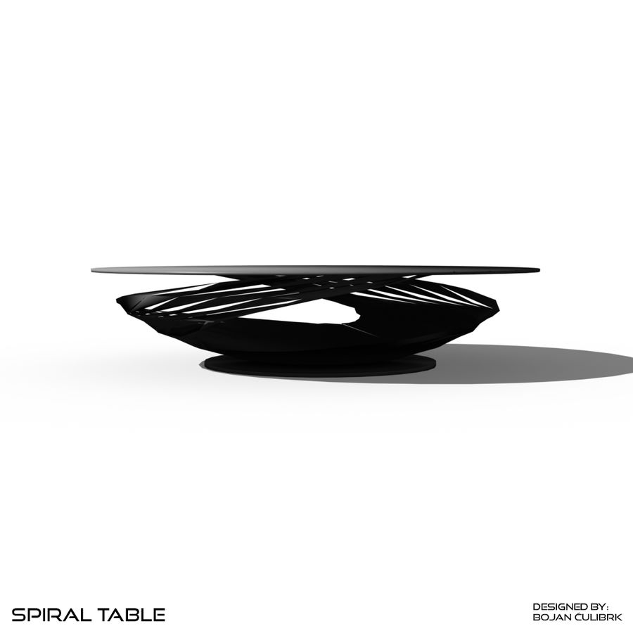 Table à spirale royalty-free 3d model - Preview no. 6