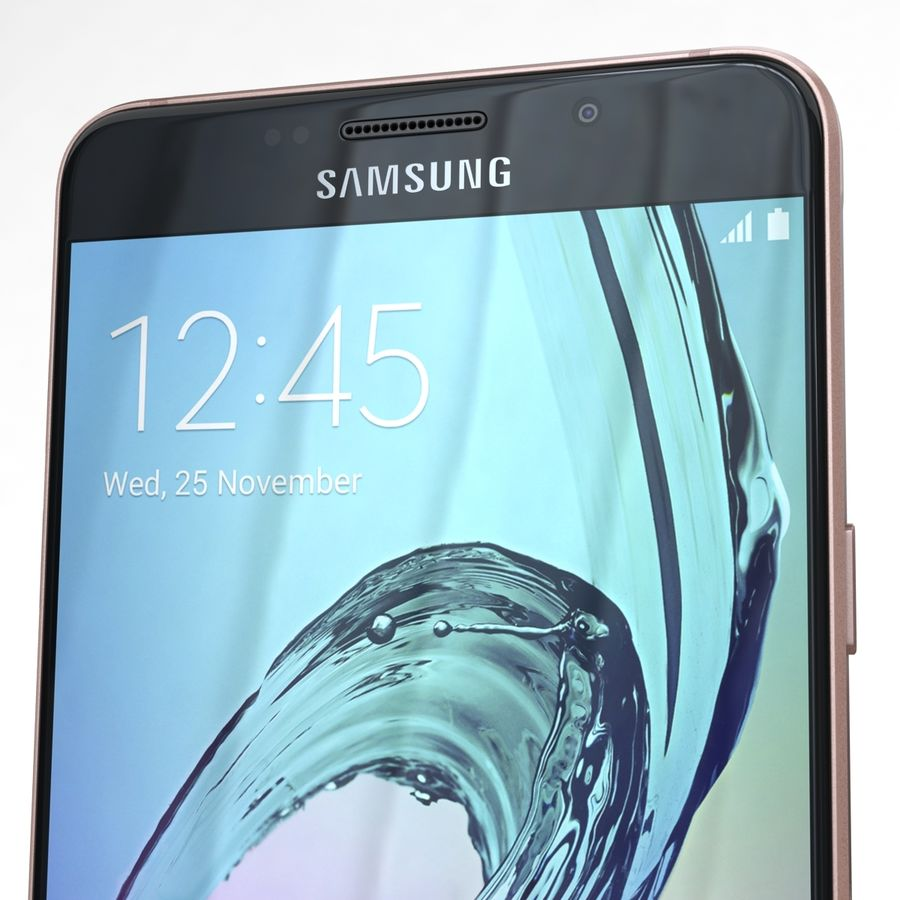 Samsung Galaxy A5 2016 Pink royalty-free 3d model - Preview no. 23