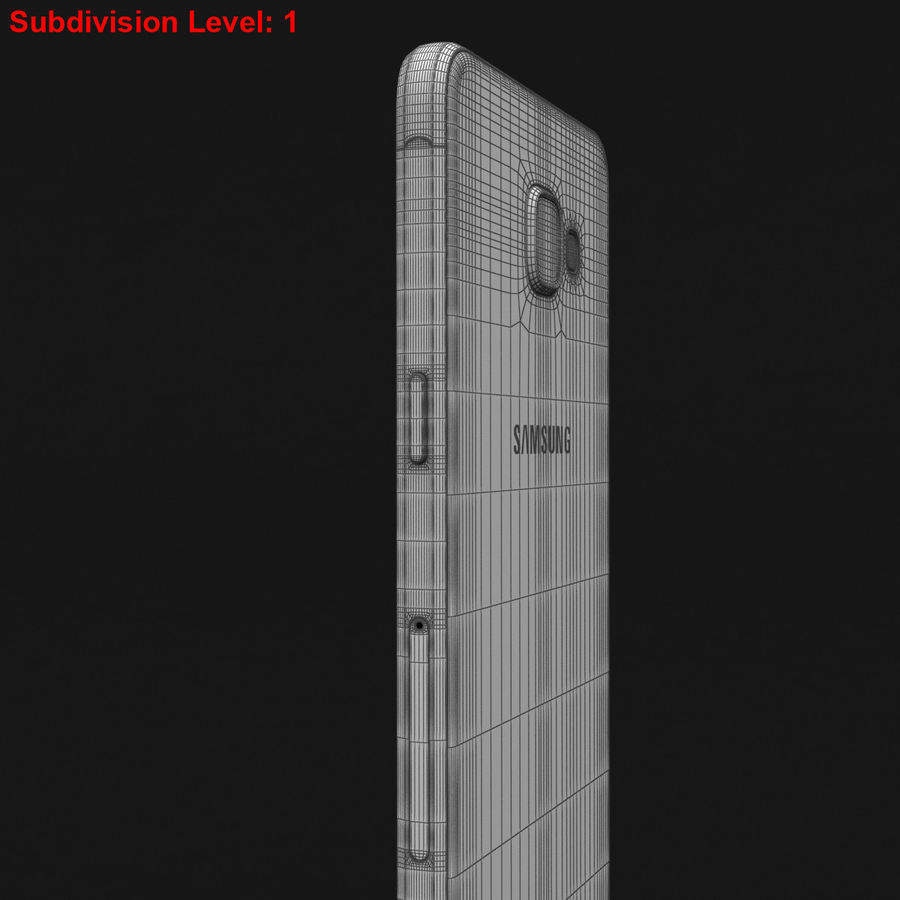 Samsung Galaxy A5 2016 розовый royalty-free 3d model - Preview no. 30
