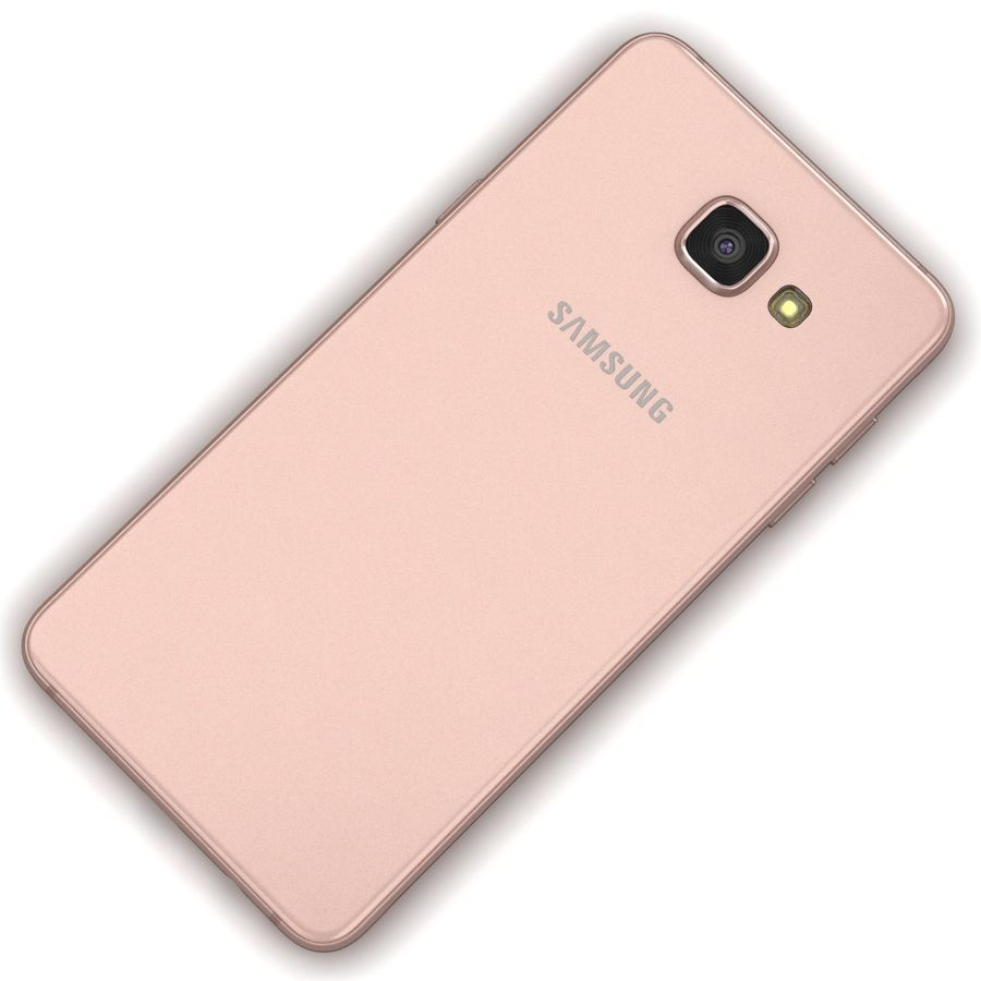 Samsung Galaxy A5 2016 розовый royalty-free 3d model - Preview no. 11