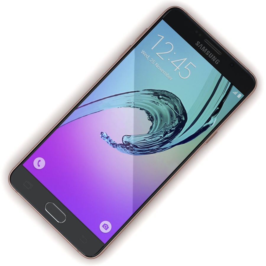 Samsung Galaxy A5 2016 розовый royalty-free 3d model - Preview no. 7