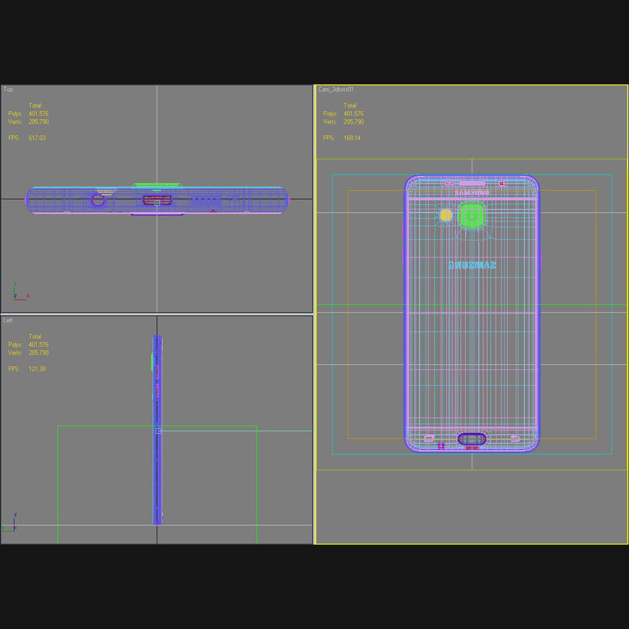 Samsung Galaxy A5 2016 Pink royalty-free 3d model - Preview no. 43