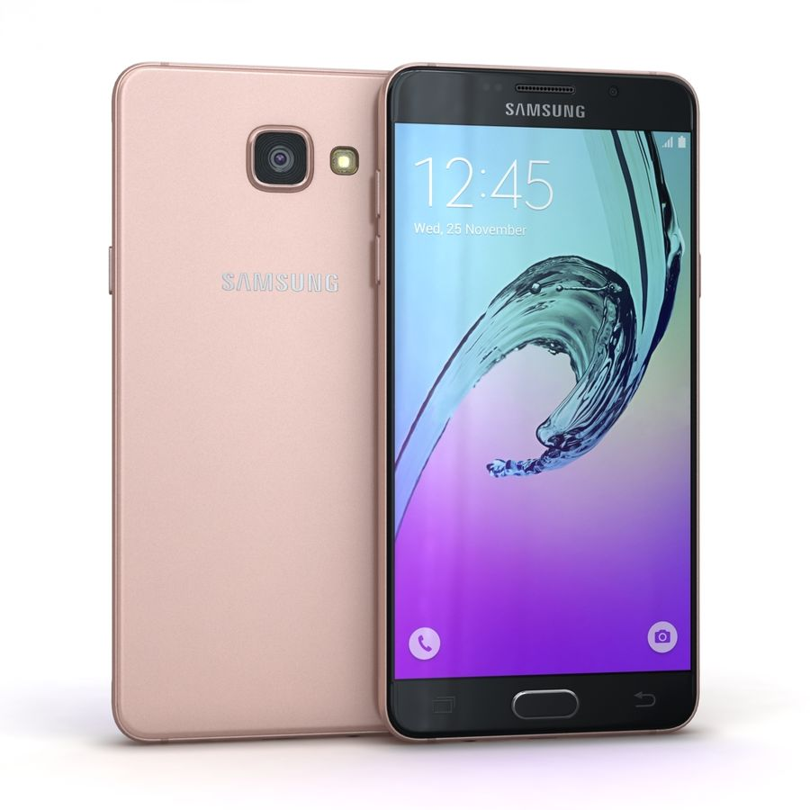 Samsung Galaxy A5 2016 розовый royalty-free 3d model - Preview no. 2