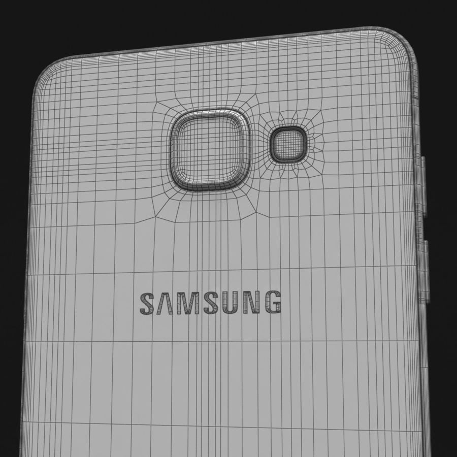 Samsung Galaxy A5 2016 розовый royalty-free 3d model - Preview no. 34