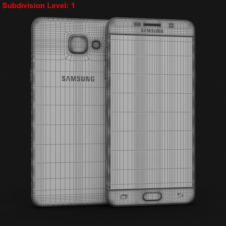 Samsung Galaxy A5 2016 розовый royalty-free 3d model - Preview no. 26