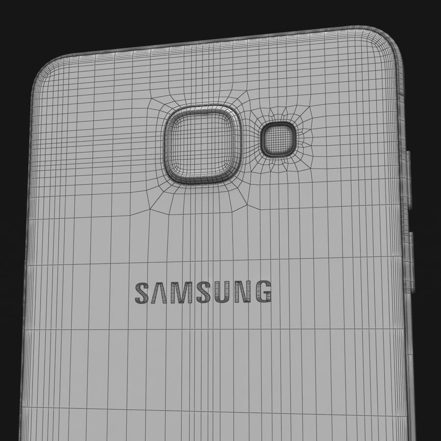 Samsung Galaxy A5 2016 Pink royalty-free 3d model - Preview no. 34