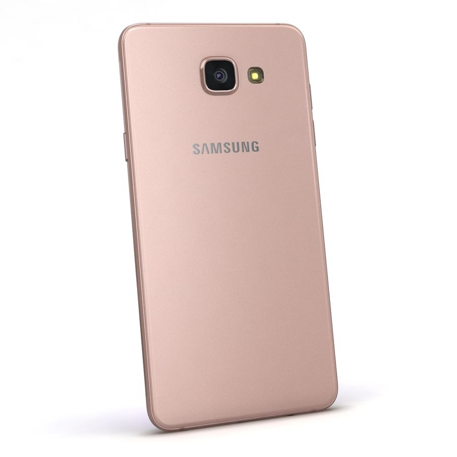 Samsung Galaxy A5 2016 розовый royalty-free 3d model - Preview no. 5