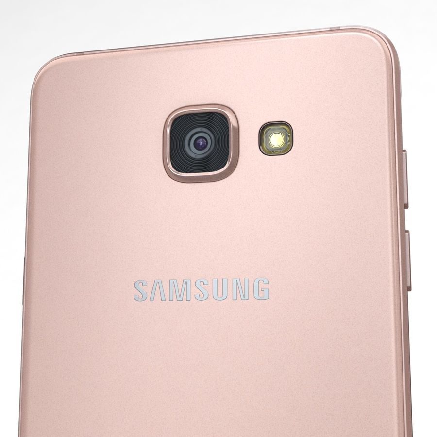 Samsung Galaxy A5 2016 розовый royalty-free 3d model - Preview no. 18