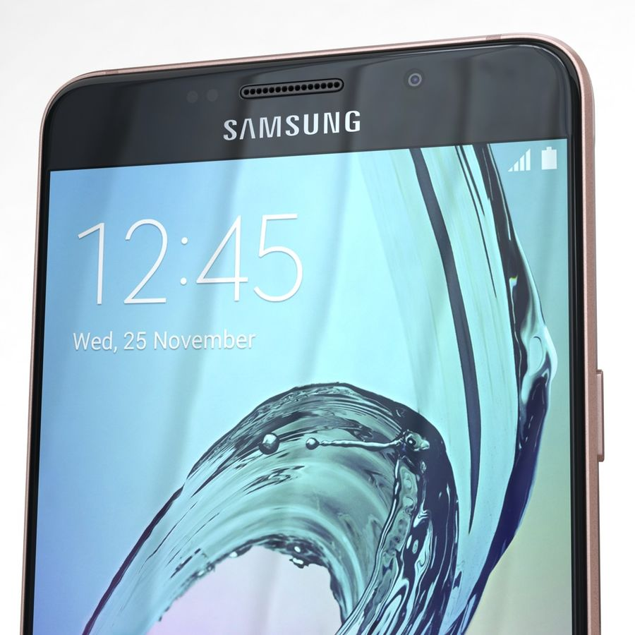 Samsung Galaxy A5 2016 розовый royalty-free 3d model - Preview no. 23