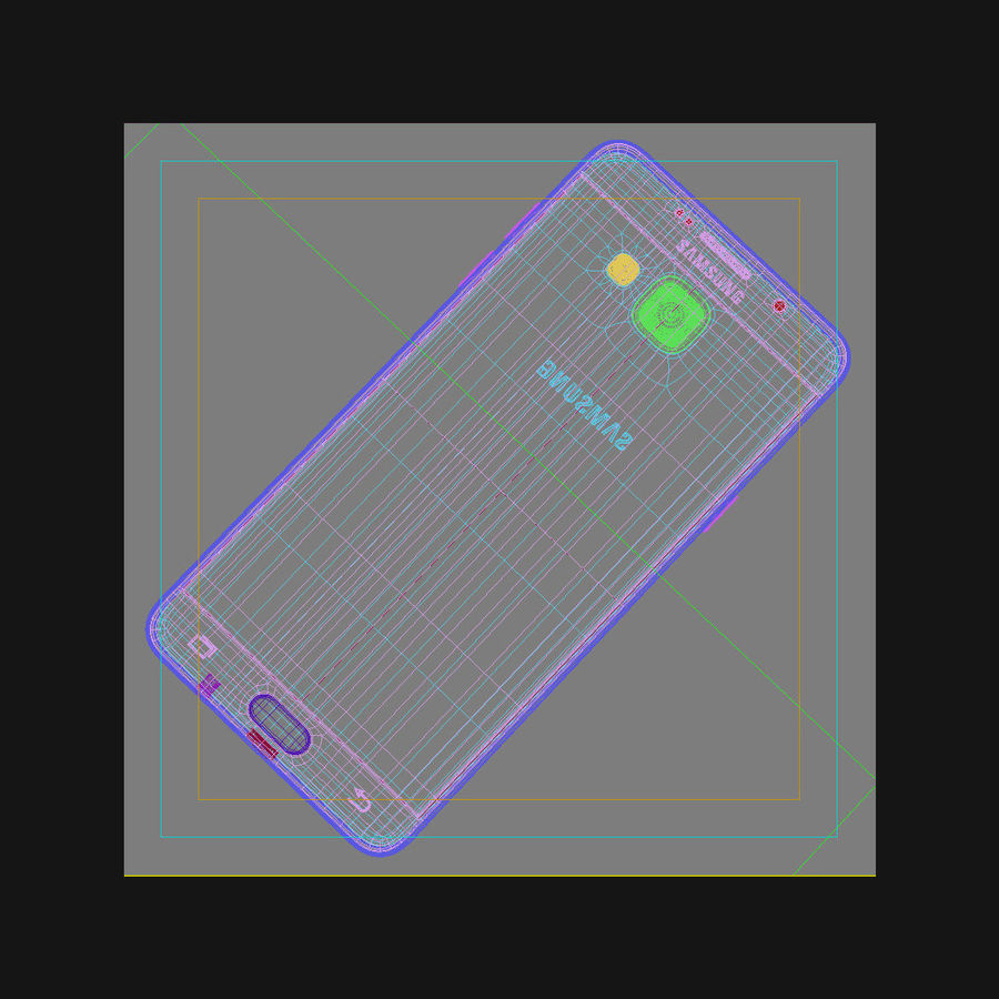 Samsung Galaxy A5 2016 розовый royalty-free 3d model - Preview no. 42