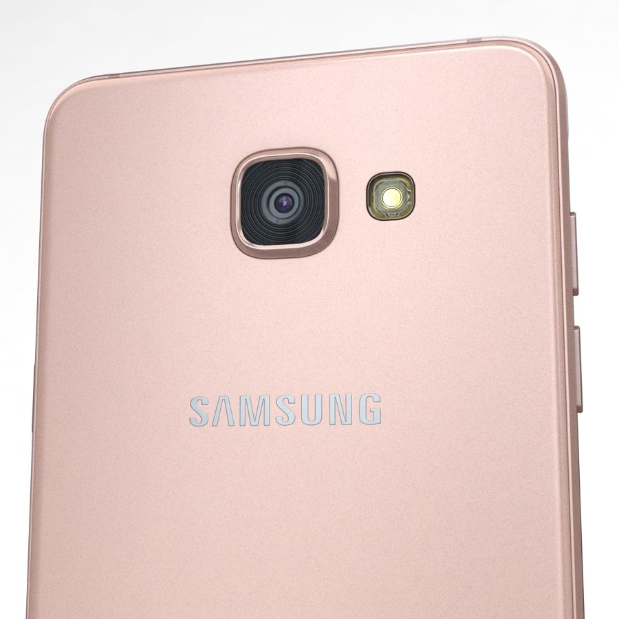 Samsung Galaxy A5 2016 Pink royalty-free 3d model - Preview no. 18