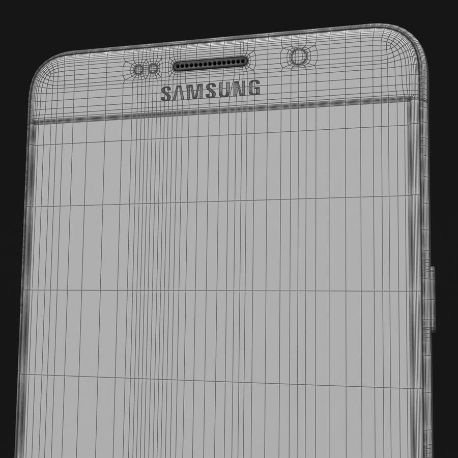 Samsung Galaxy A5 2016 Pink royalty-free 3d model - Preview no. 40