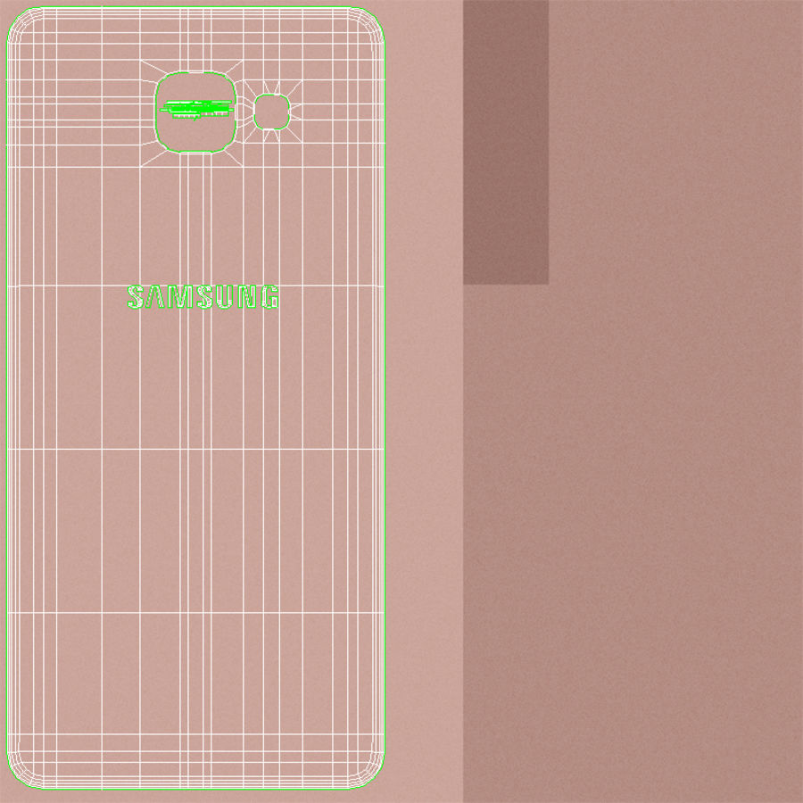 Samsung Galaxy A5 2016 розовый royalty-free 3d model - Preview no. 24