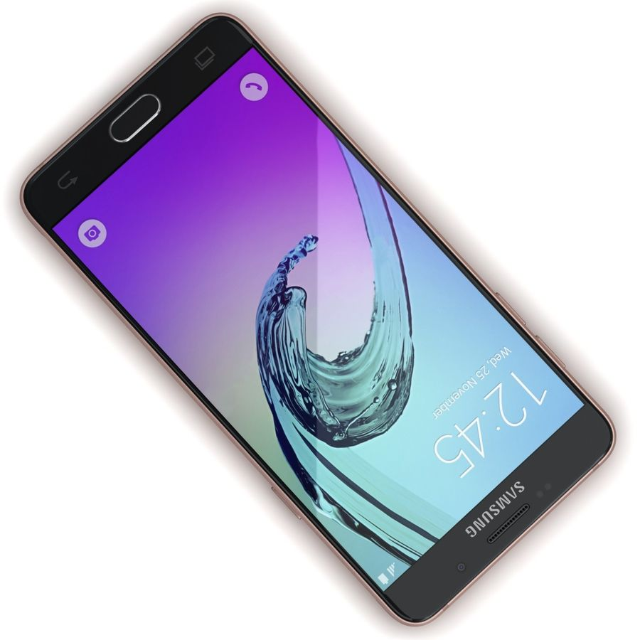 Samsung Galaxy A5 2016 розовый royalty-free 3d model - Preview no. 8