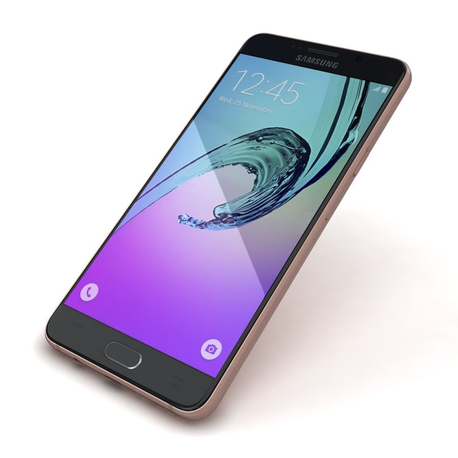 Samsung Galaxy A5 2016 розовый royalty-free 3d model - Preview no. 20