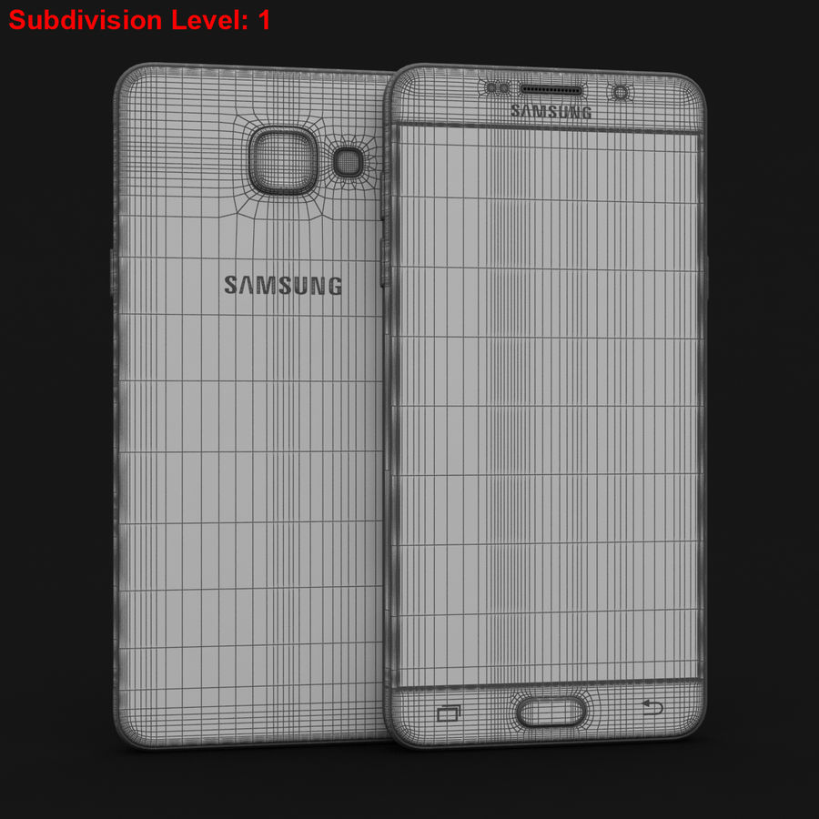 Samsung Galaxy A5 2016 Pink royalty-free 3d model - Preview no. 26