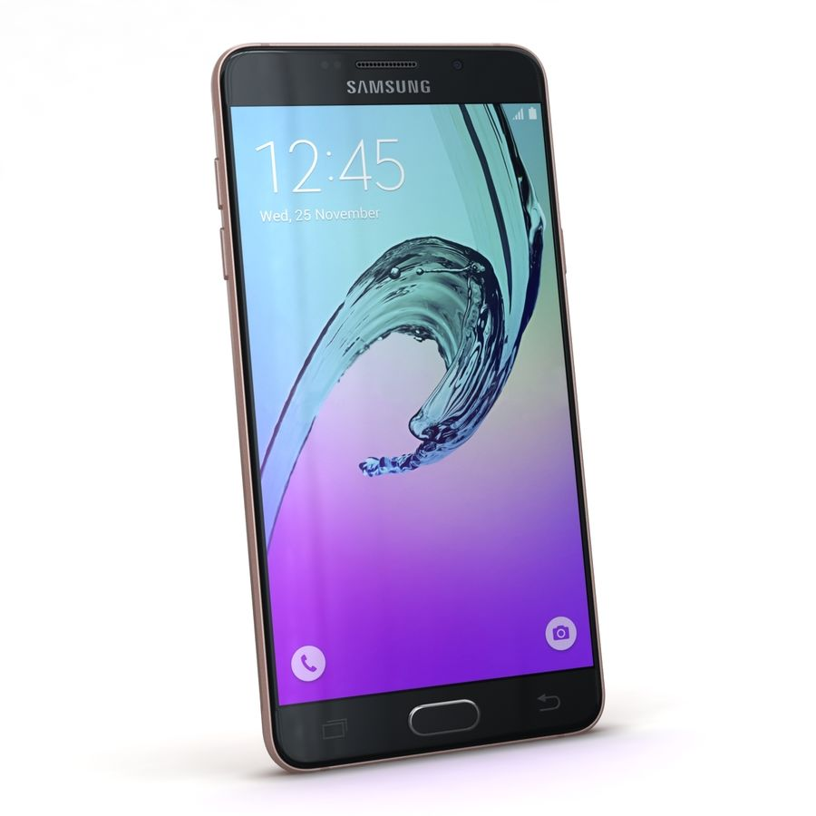 Samsung Galaxy A5 2016 розовый royalty-free 3d model - Preview no. 3