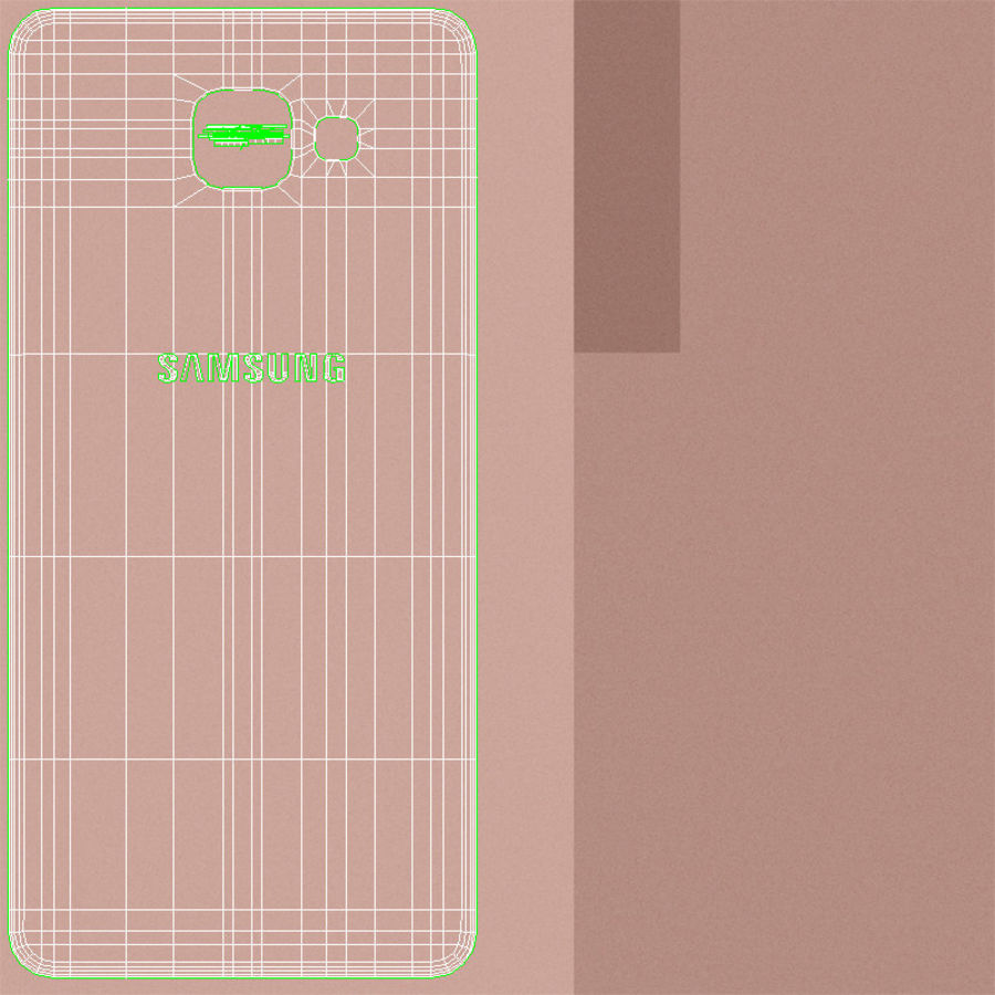 Samsung Galaxy A5 2016 Pink royalty-free 3d model - Preview no. 24