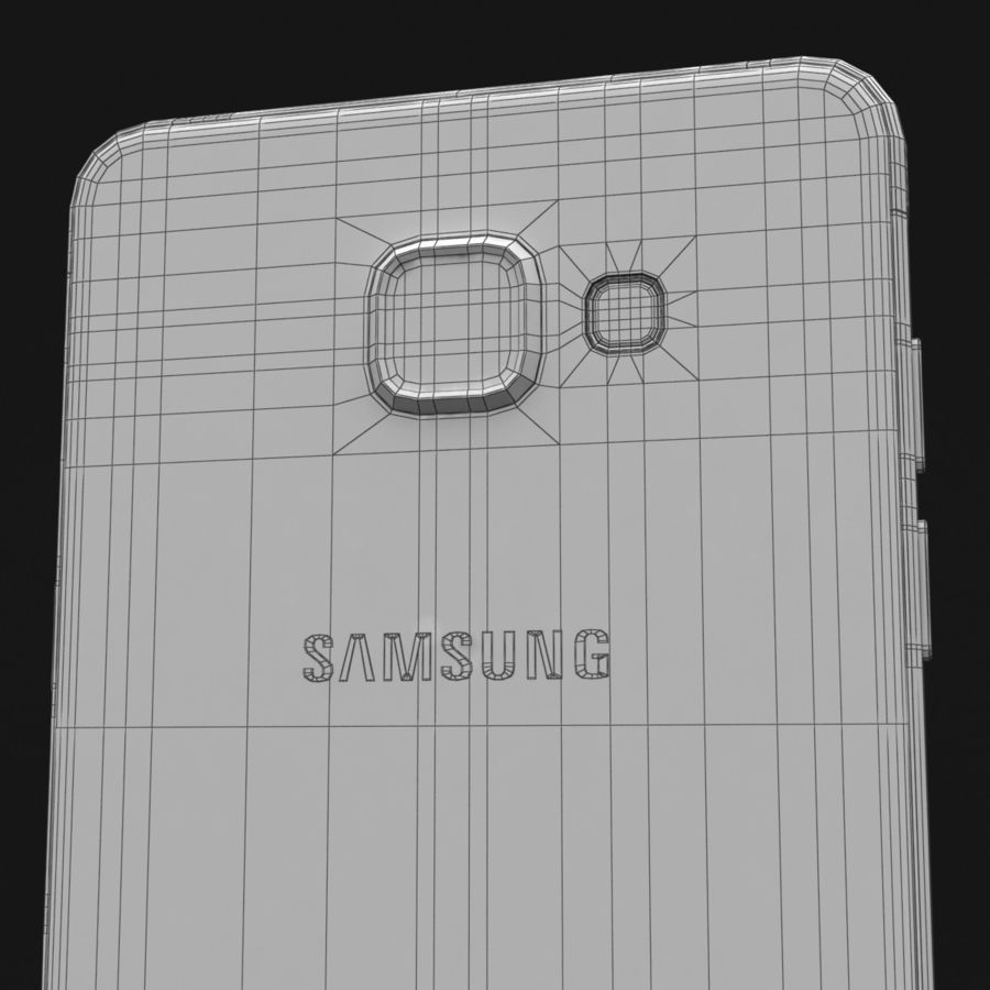 Samsung Galaxy A5 2016 розовый royalty-free 3d model - Preview no. 35