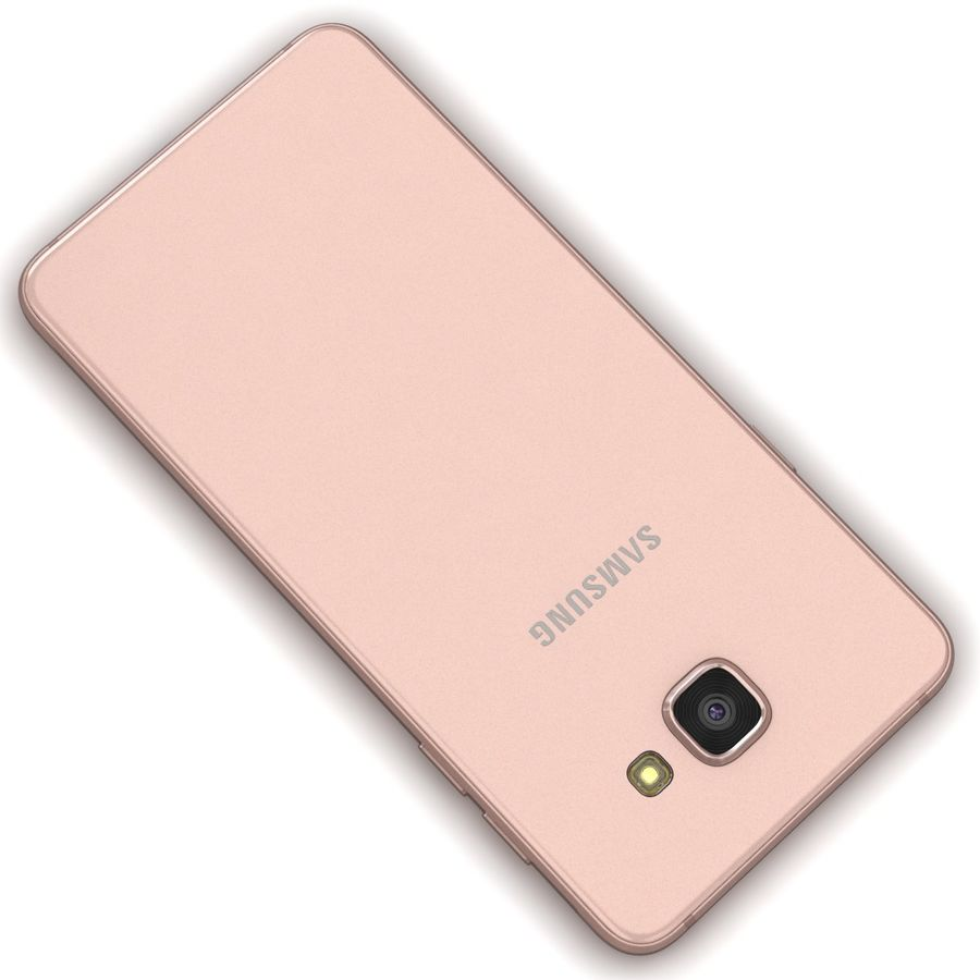 Samsung Galaxy A5 2016 розовый royalty-free 3d model - Preview no. 12