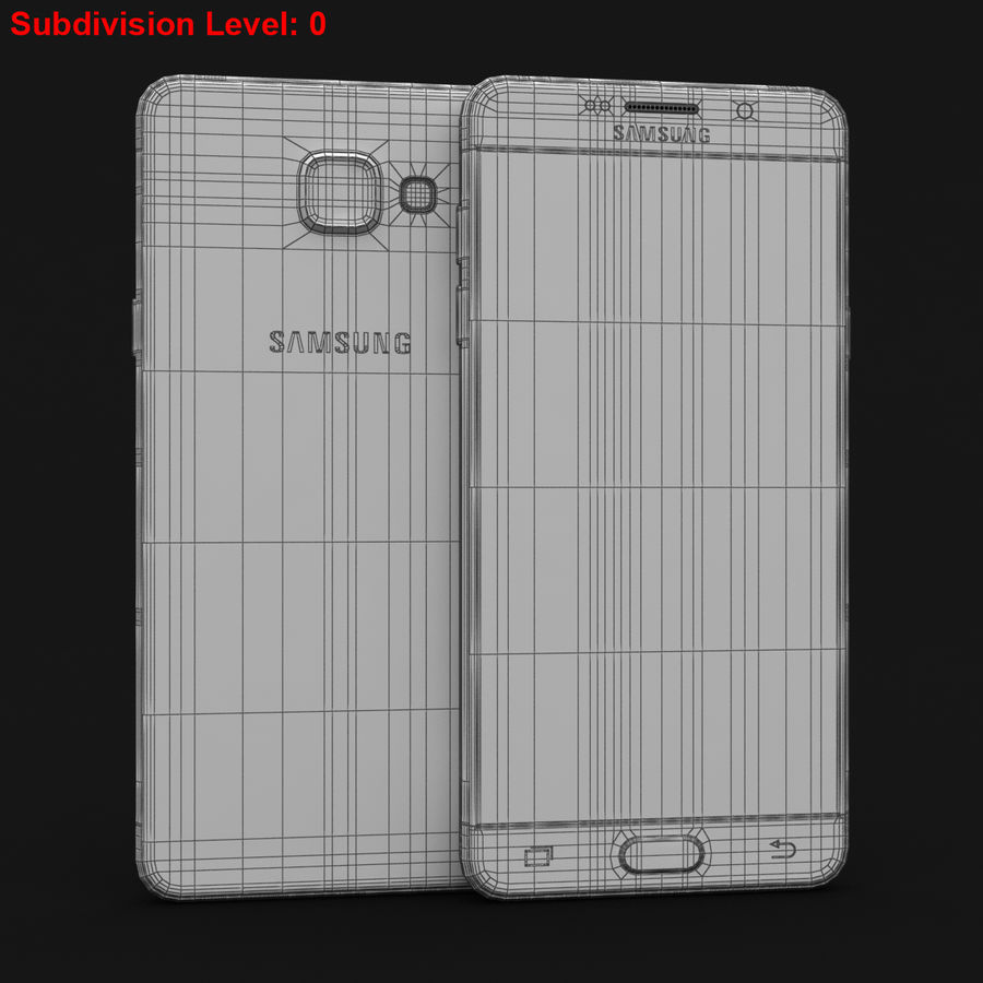 Samsung Galaxy A5 2016 Pink royalty-free 3d model - Preview no. 27