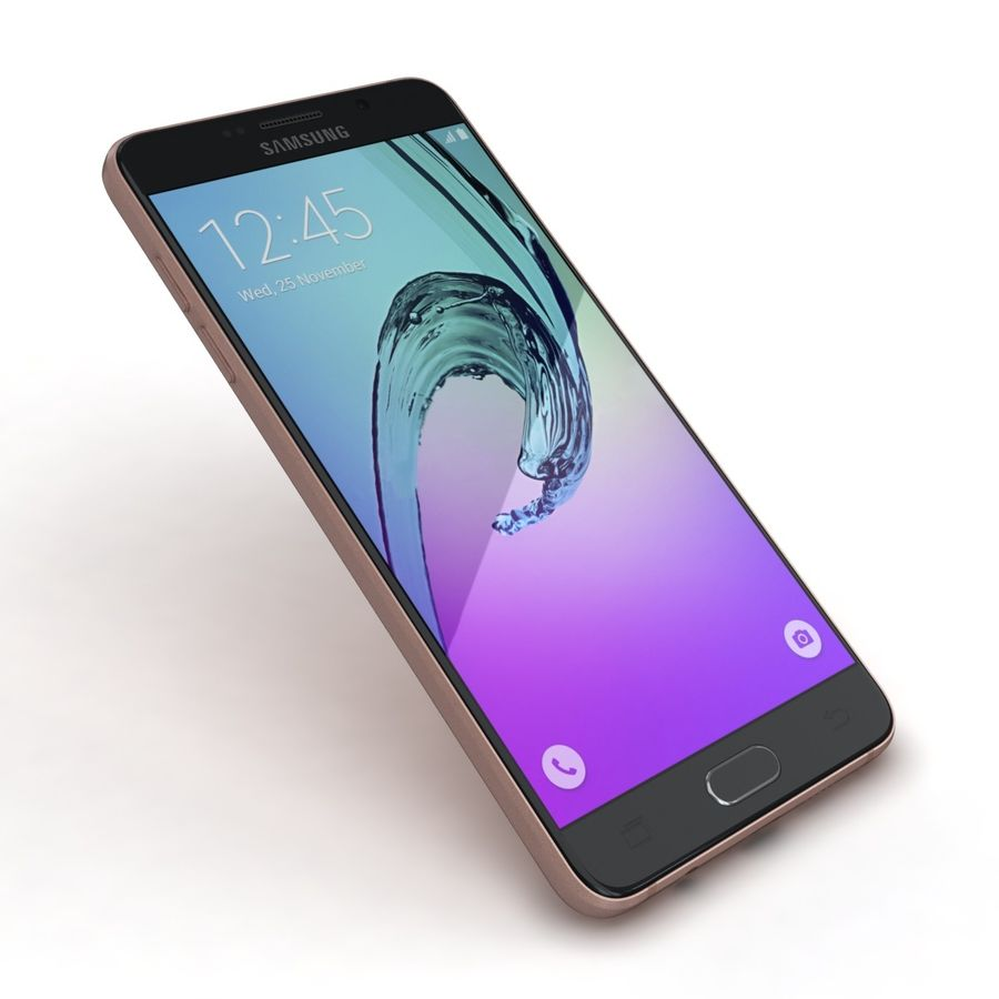 Samsung Galaxy A5 2016 розовый royalty-free 3d model - Preview no. 19
