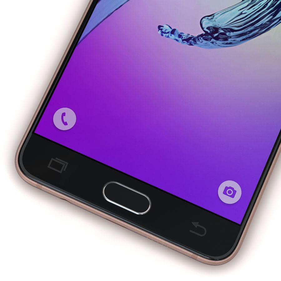 Samsung Galaxy A5 2016 Pink royalty-free 3d model - Preview no. 9