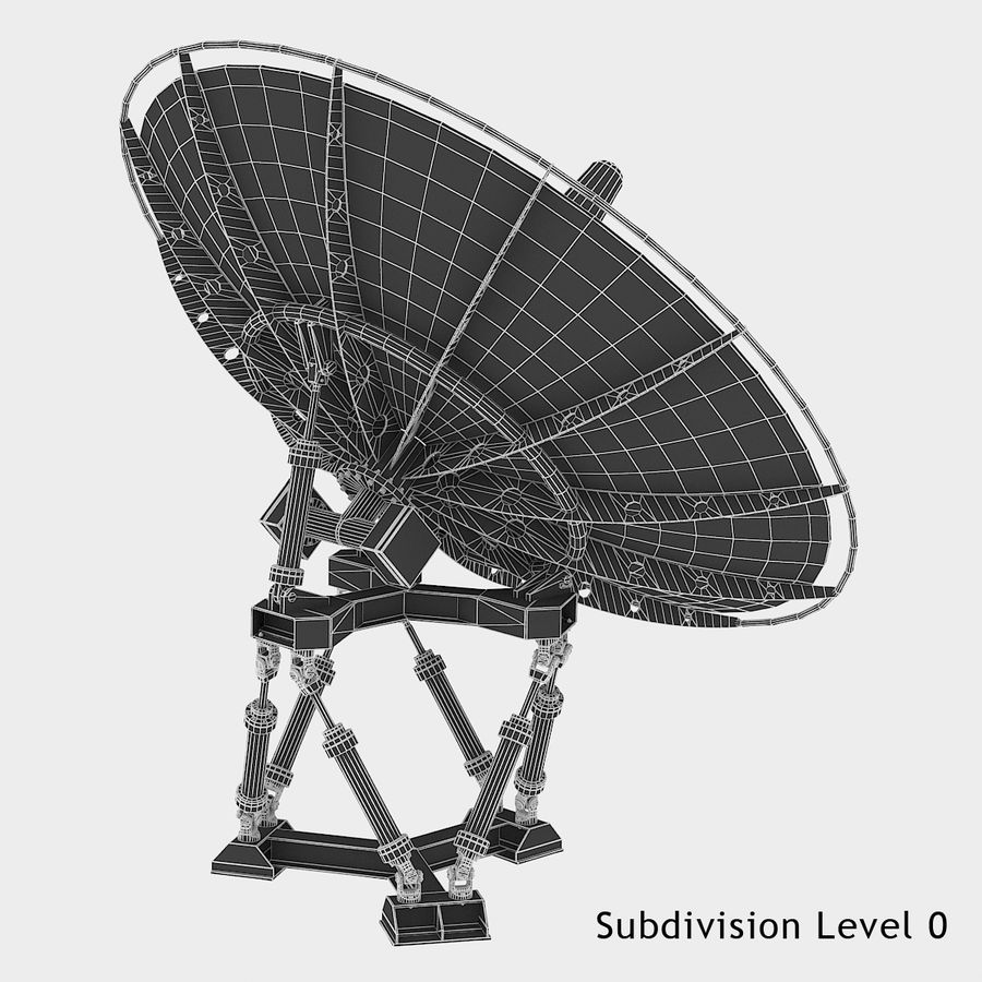 Satellite Dish royalty-free 3d model - Preview no. 13