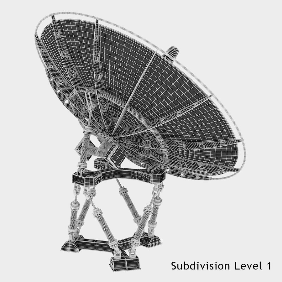 Satellite Dish royalty-free 3d model - Preview no. 14