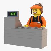 레고 캐셔 3d model