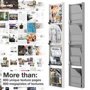 Modern tijdschriftenrek 3d model