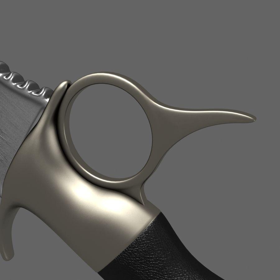 Coltello con il lupo royalty-free 3d model - Preview no. 11