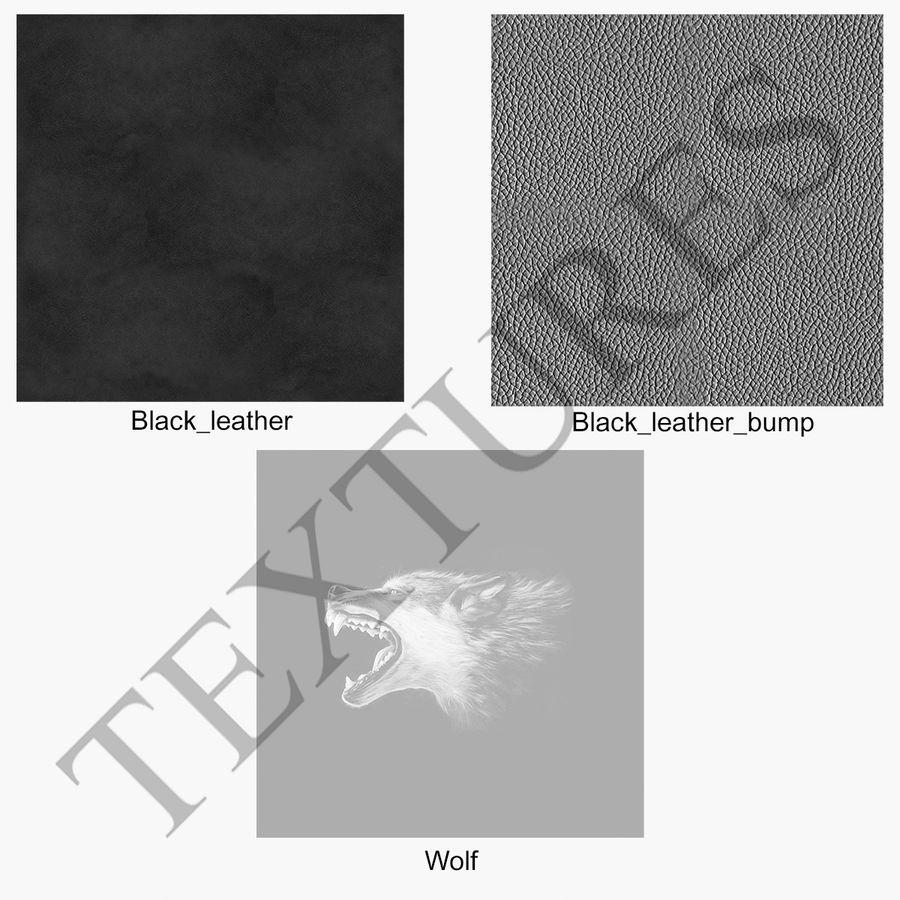 Coltello con il lupo royalty-free 3d model - Preview no. 20