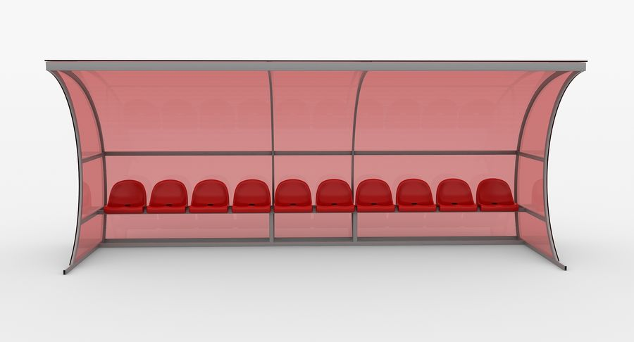 Bench for Reserve Players royalty-free 3d model - Preview no. 7
