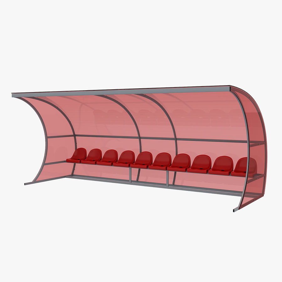 Bench for Reserve Players royalty-free 3d model - Preview no. 1